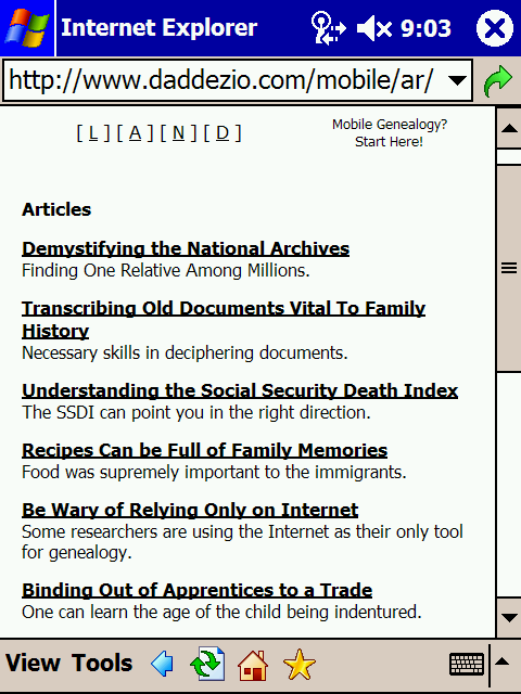 Article Listing